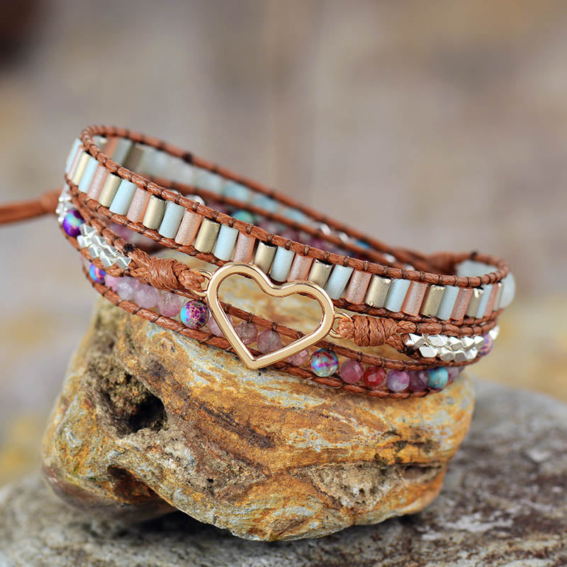 Heart Soothing Natural Tourmaline Stone Bracelet