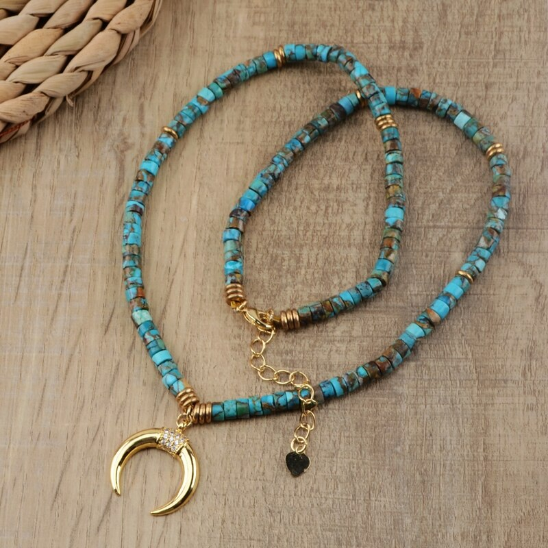 LUCY HORN TURQUOISE NECKLACE