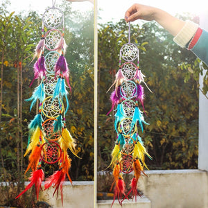 7 Chakra Feather Home & Crystal Dream Catcher
