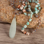 Hope Amazonite Pendant Necklace