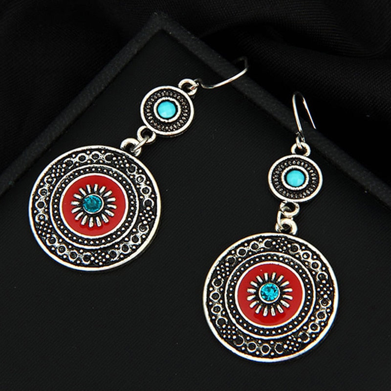 Ethnic Antique Sliver Earring - Vanillya Spiritual Jewelry