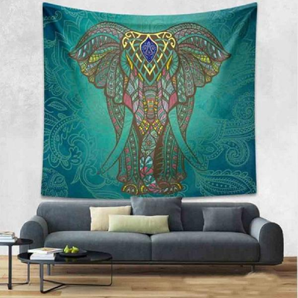 Mandala Good Luck Royal Elephant Tapestry - Vanillya Spiritual Jewelry