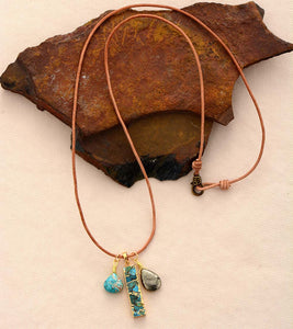 Ocean & Earth Stone Necklace