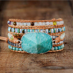 Healing Royal AMAZONITE Wrap Bracelet