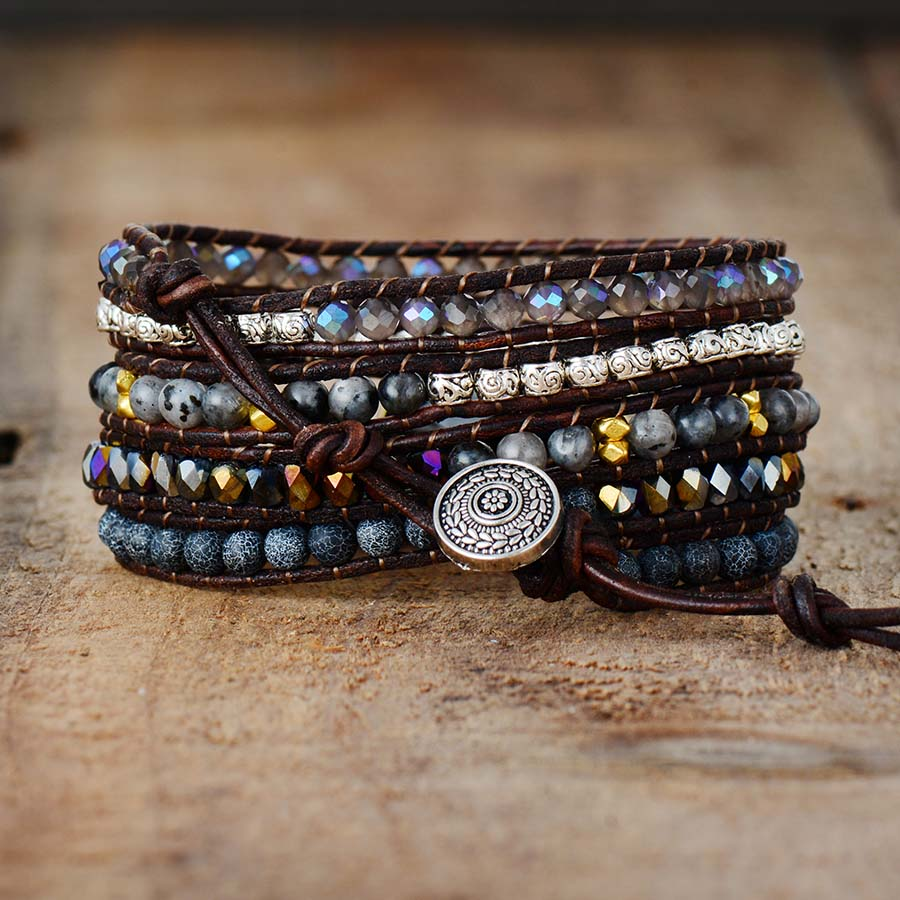 ONYX Moonlight Protection Wrap Bracelet