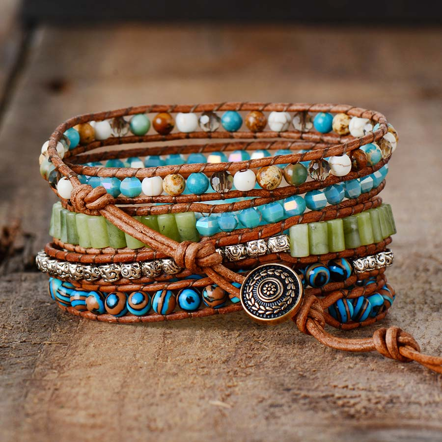 Mother Earth Jasper Wrap Bracelet