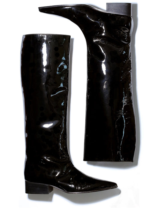 Gucci Tom Ford era black patent leather boots FW 1997 collection