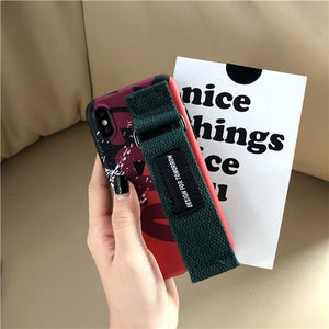 Fashion Japanese Korean Style Letter Wristband Phone Cover Case For Iphone X Xs Max Xr 10 8 7 6 6s Plus Soft Cases Coque Fundas