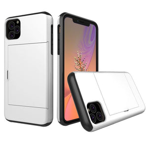 Case For iPhone XI R XI MAX 2019 Case Slide Armor Wallet Card Slots Cover For IPhone 5.8 6.1 6.5 2019 For iPhone XIR 11 Cover