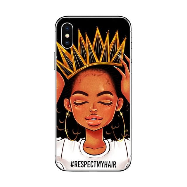 ciciber 2bunz Melanin Poppin Aba Phone Case for iPhone 11 Pro Max Cover for iPhone X XR XS MAX 8 6 6S Plus 5 5S SE Soft TPU Capa