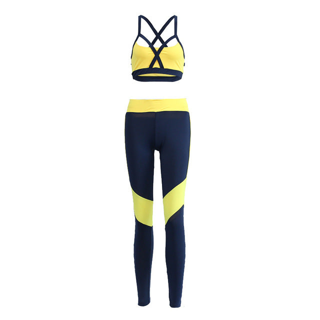 Cross Yellow Patchwork Tracksuit
