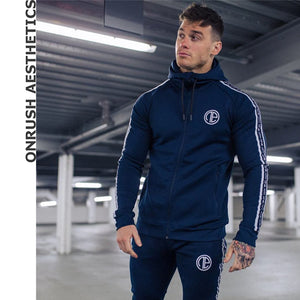 Tracksuits Suits Men's Fitness Hooded Zipper