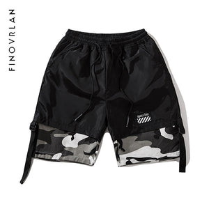 male summer Camo Shorts camouflage Splice cotton Skate short