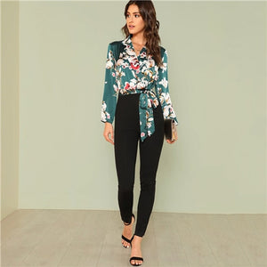 Office Lady Workwear Multicolor Boho Vacation Mid Waist Jumpsuits for Women