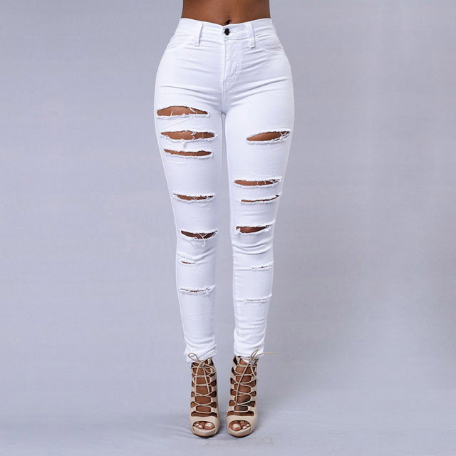 Trend Hole Ripped Jeans