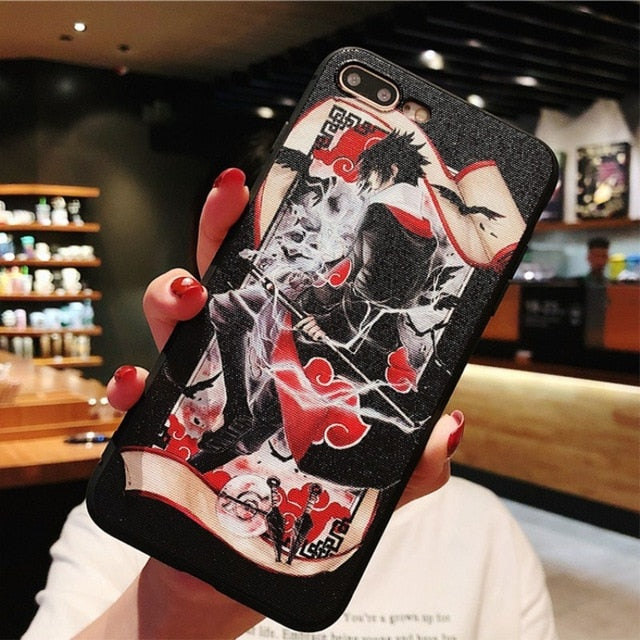iphone 6 6s 7 8 plus X phone cases Newest Cool Japan Anime Naruto relief soft  TPU back cover Coque