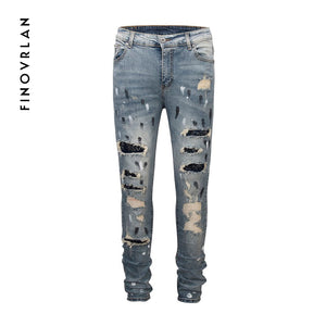 kanye west men Slim fit jeans