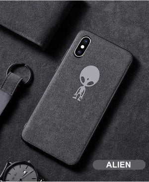 Suede Fur Phone Case For iPhone XS MAX XR X 6 6S 7 8 Plus Ultra Thin Shockproof Matte Leather TPU iPhone 11 Cover Fundas Capa