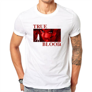Blood TLV  Tshirt Streetwear Men Summer Fashion Amine T Shirt