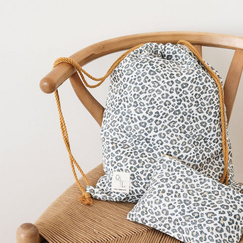 Printed Linen Accessories including bags, face masks and laptop sleeves