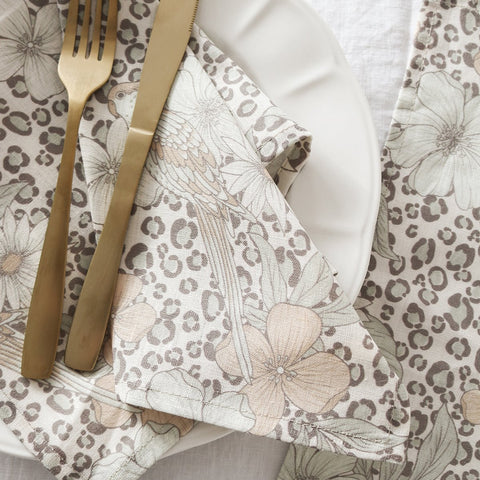 Napkins, tablecloths and table runners made from pure flax linen. Designed and made in Melbourne with prints that are perfect for layering to create stylish table settings.