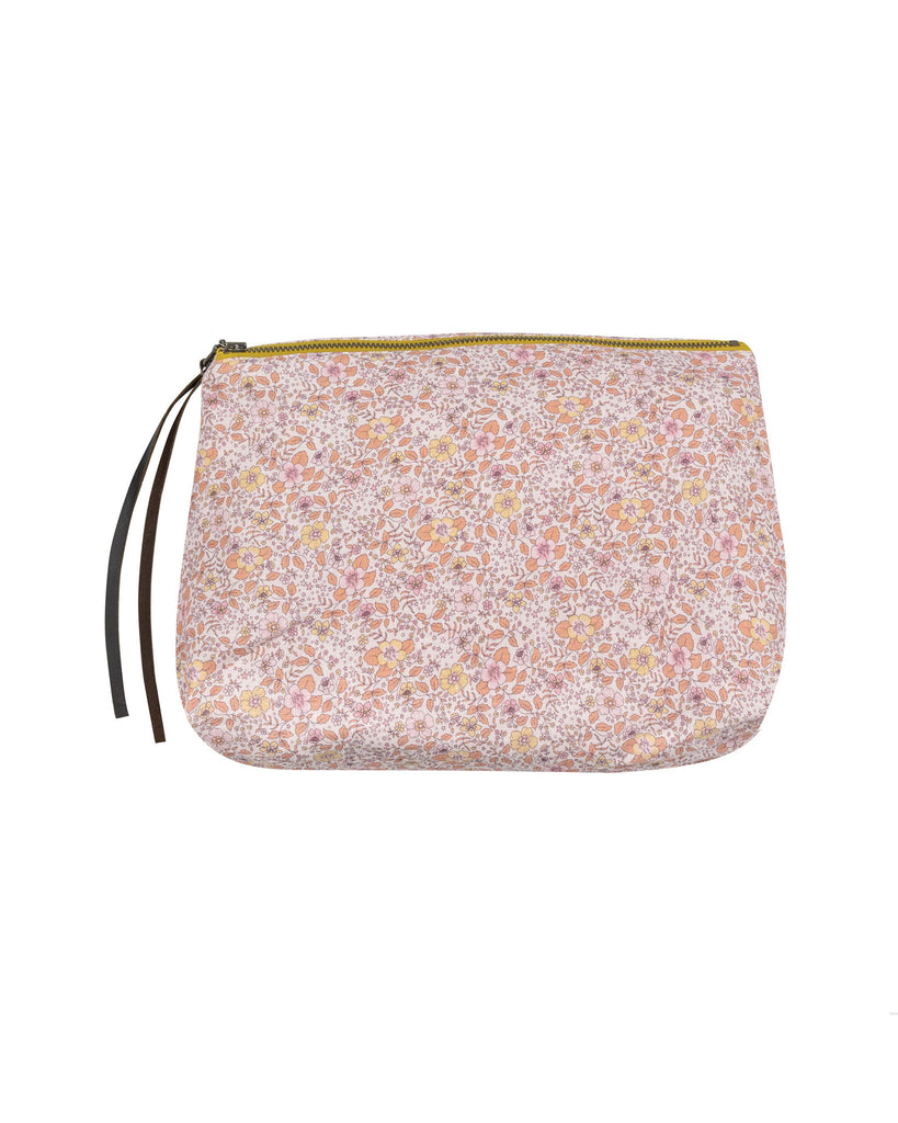 Vintage Floral Cosmetic Bag. Ideal for daily outings or weekends away; designed to hold your cosmetics and toiletries and slip into your tote or carry-on luggage. Printed on Belgian linen, lined with medium weight linen fabric.