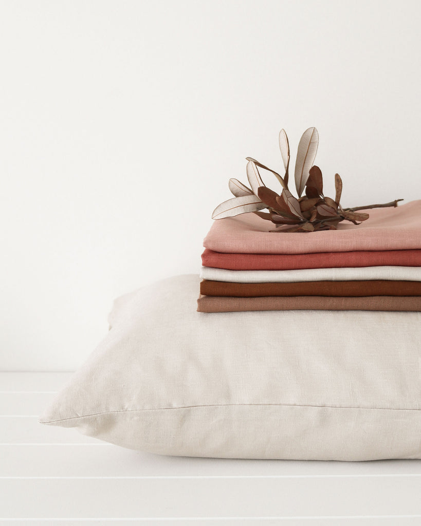 Oski & Lottie Linen Pillow Case Stone