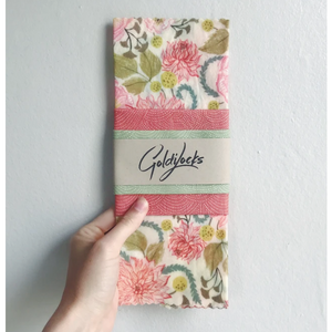 Pink Floral | Beeswax Food Wraps | Goldilocks