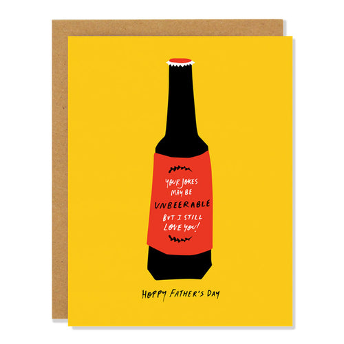 BEER HAPPY FATHERS DAY | BADGER & BURKE GREETING CARD