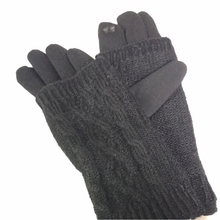 Load image into Gallery viewer, Gloves with knit sleeve