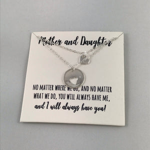 Mother & Daughter Necklace Set