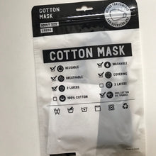 Load image into Gallery viewer, Cotton mask adult size