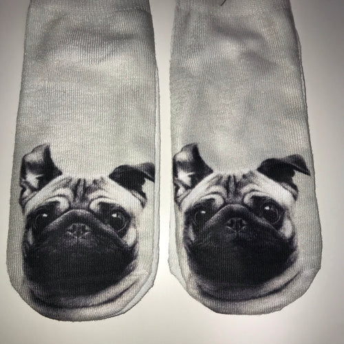 pug print socks - Friendz Leggings Apparel