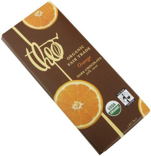 Theo Chocolate Dark Chocolate Bar With Orange (12x3oz)