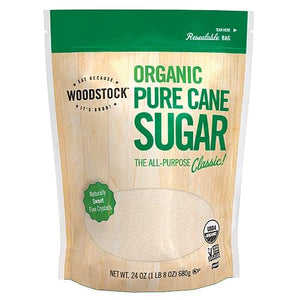 Woodstock Farms Pure Cane Granulated Sugar ( 12x24 Oz)