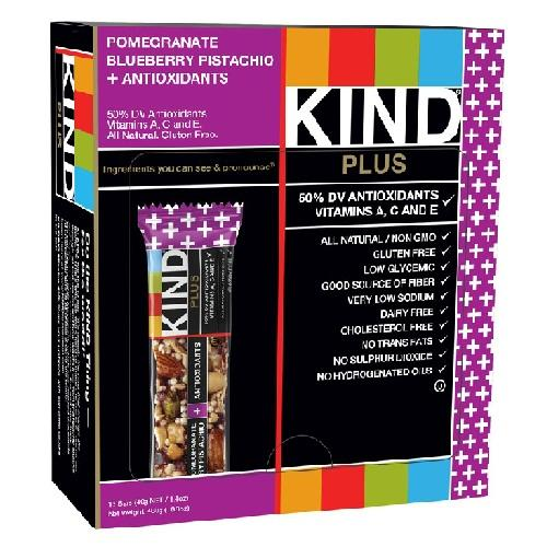 Kind Pomegranate Pistachio+antioxidants Bar (12x1.4 Oz)