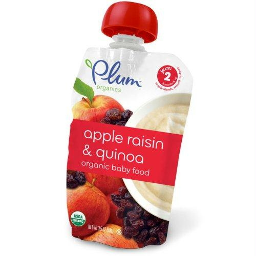Plum Organics Apple Raisin & Quinoa Yoghurt (6x3.5 Oz)