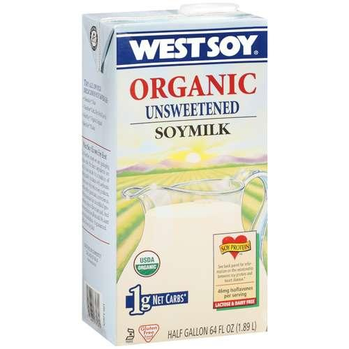 Westsoy Unsweetened Original Soymilk (8x64 Oz)