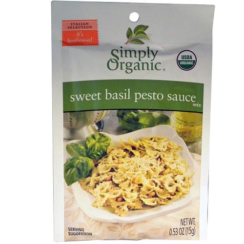 Simply Organic Sweet Basil Pesto (12x.53 Oz)