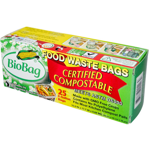 Biobag Compost Waste Bag 3 Gal (12x25 Ct)