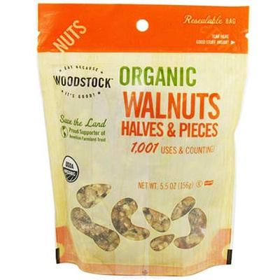 Woodstock Organic Walnut Havles And Pieces (8x5.5 Oz)