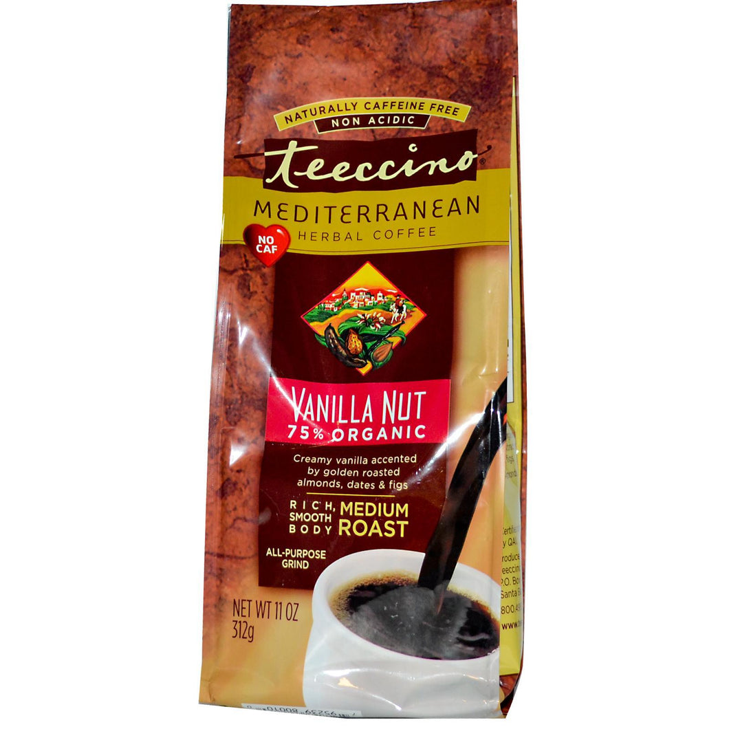 Teeccino Vanilla Nut Herbal Coffee (6x11 Oz)