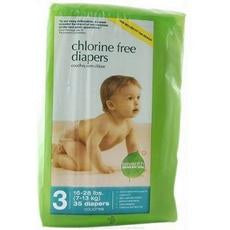 Seventh Generation Baby Free Clear Diapers Stage 3: 16-28 Lbs (4x31 Ct)