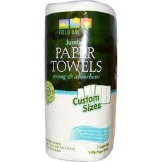 Field Day Custom Size 100% Recycled Paper Towel Single Roll (24x1 Pack)