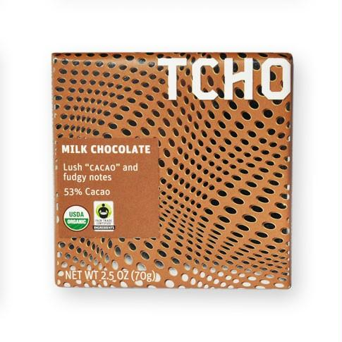 Tcho Milk Chocolate Bar 53% Cacao (12x2.5 Oz)