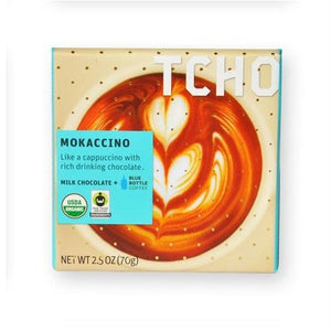 Tcho Organic Mokaccino Chocolate Bar (12x2.5 Oz)