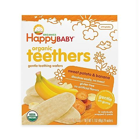 Happy Baby Teethers Teething Wafers Sweet Potato & Banana (6x1.7 Oz)