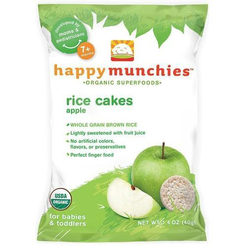 Happy Baby Happy Munchies Rice Cakes Apple (10x1.4 Oz)
