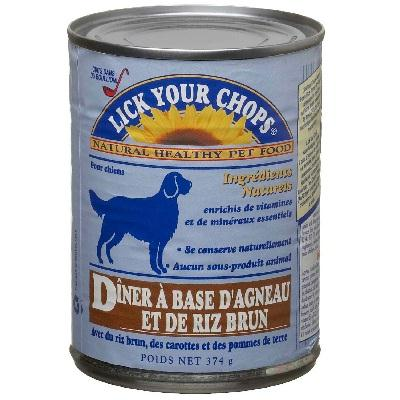 Lick Your Chops Lamb & Rice Dog Food (12x13.2oz )