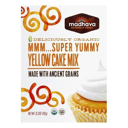 Madhava Organic Super Yummy Cake Mix With Ancient Grains Yellow (6x15.3 Oz)
